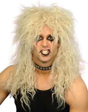80s Rocker Fancy Dress Wig - Blonde