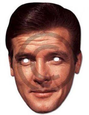 Celebrity Roger Moore James Bond Card Mask