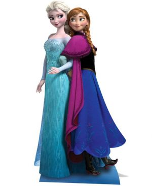 Licensed Disney Frozen Lifesize Cutout 162cm - Elsa & Anna