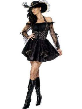 Ladies Sexy Swashbuckler Pirate Costume - S, M & L