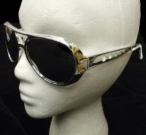 Rockstar 60s 70s Mirrored Sunglasses - Silver