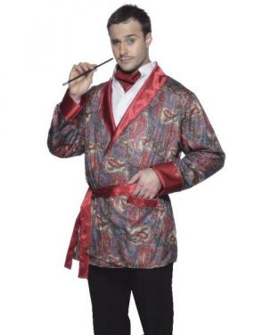 Mens Fancy Dress - Smoking Jacket - Paisley Print