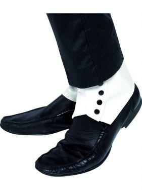 Gangster Fancy Dress PVC Spats Shoe Covers