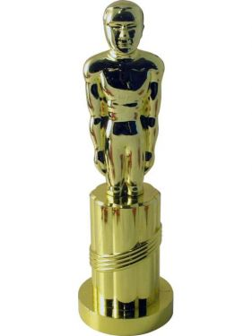 Movie award Statue Gold Coloured
