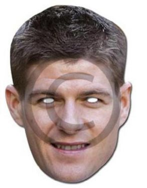 Celebrity Fancy Dress Mask - Steven Gerrard Card Mask