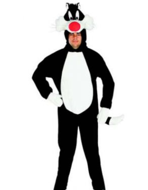 Adult Deluxe Sylvester The Cat Costume - Full Suit