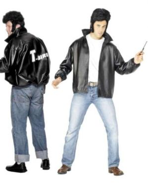 Mens Official Licensed Grease 50s T Bird Jacket - M, L & XL