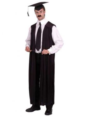 Mens Fancy Dress - Teacher Lecturer Costume Robe - One Size