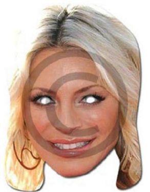 Celebrity Fancy Dress Mask - Tess Daly Card Mask