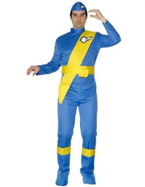 1980s Fancy Dress Mens Thunderbirds Costume - Virgil
