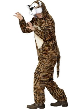"Adult Fancy Dress - Tiger Costume - Animal Suit - 38/42"" Chest"
