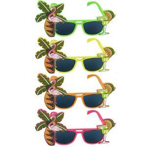 Hawaiian Fancy Dress Flamingo Glasses
