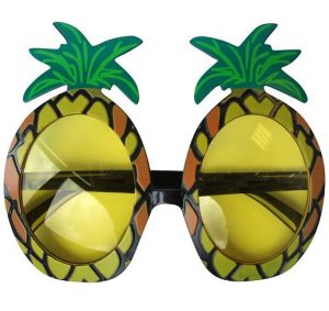 Hawaiian Pineapple Fancy Dress Sunglasses