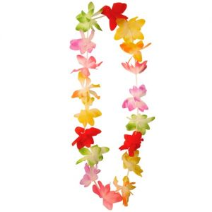 Hawaiian Fancy Dress Lei Garland - Pastel/Bright