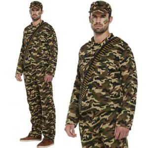 Mens Army Soldier GI Costume