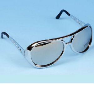 Elvis Fancy Dress Glasses - Silver