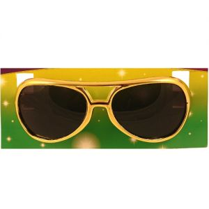 Elvis Fancy Dress Sunglasses - Gold