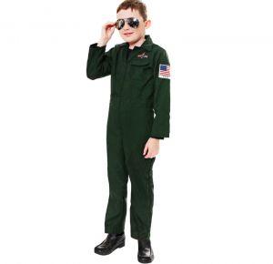 Childrens Aviator Fighter Pilot Fancy Dress Costume - S, M & L