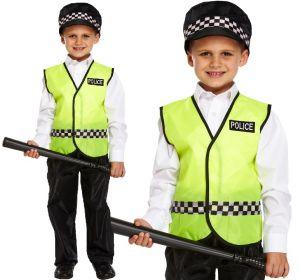Childs Policeman Fancy Dress Costume