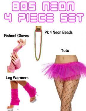pink 80s fancy dress set