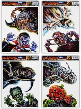Halloween Horror Stickers - 2 per Sheet