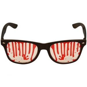 Halloween Geek Glasses with Blood Drips