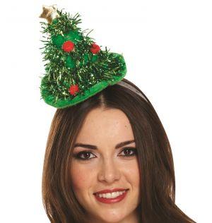Ladies Mini Christmas Tree Hat on Headband