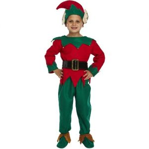 Childrens Christmas Santa's Elf Costume