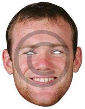 Celebrity Fancy Dress Mask - Wayne Rooney Card Mask