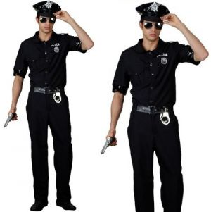 Mens New York Cop Fancy Dress Costume