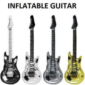 Inflatable Rock Guitar - Metallic