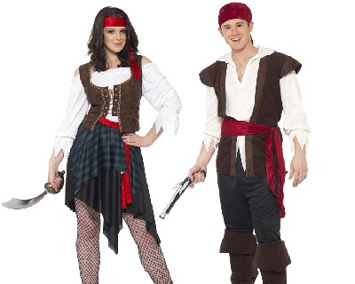 Ladies Pirates Fancy Dress Costumes